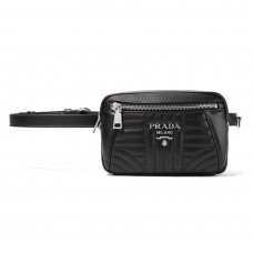 prada quilted leather belt bag