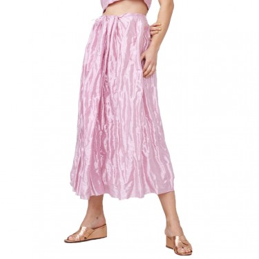 priscavera dirdnl skirt in metallic pink