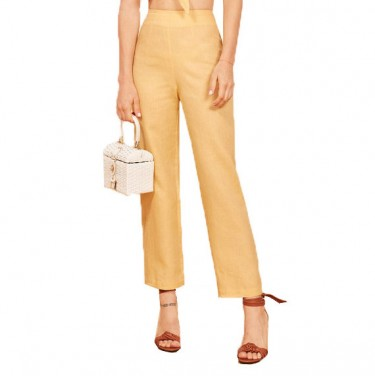 reformation noble pant buttercup