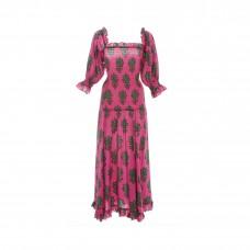 rhode resort eva smoked drop waist dress