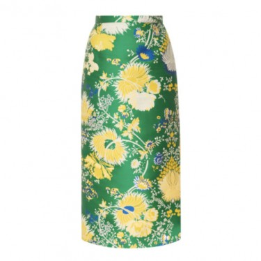 rochas pencil skirt in jacquard lurex