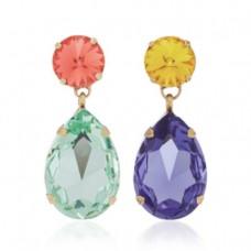 roxanne assoulin hip hop but not mismatched swarovski crystal clip earrings