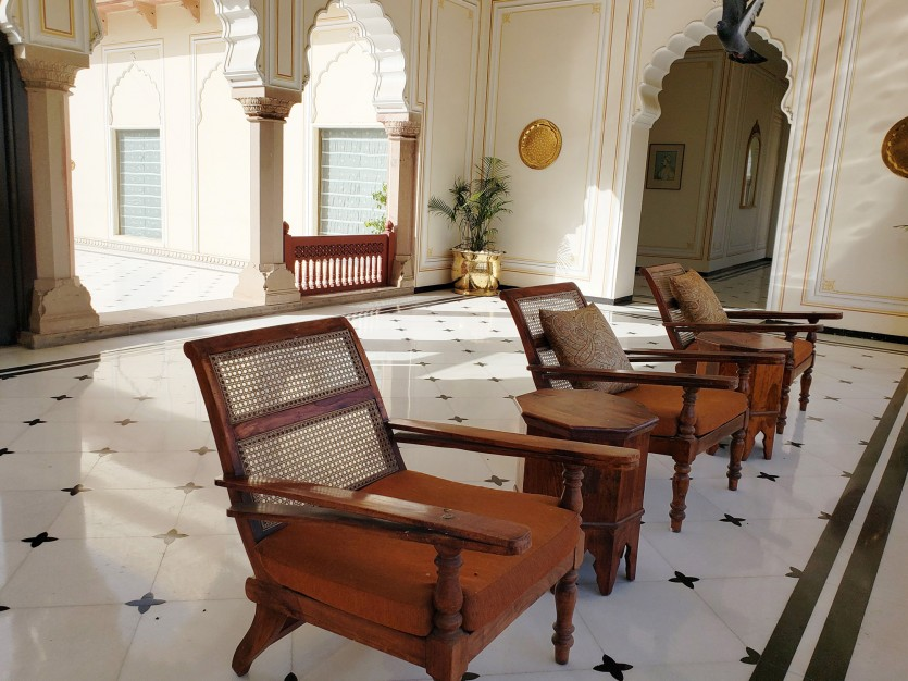 inside taj rambagh palace