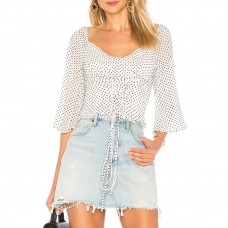 ale by alessandra x revolve odetta top in black white dot