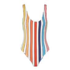 caroline constas aristi striped swimsuit