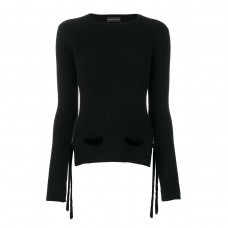 cashmere in love cashmere velvet belt sweater