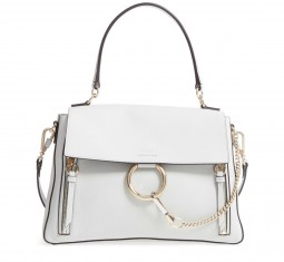 Medium Faye Leather Shoulder Bag by Chloé