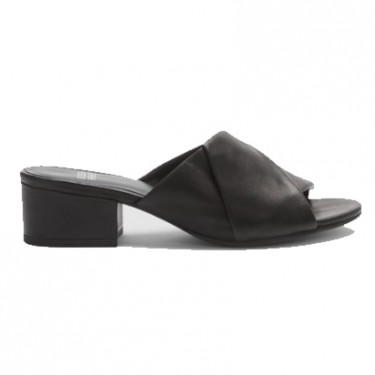 eileen fisher ruche slide in washed leather