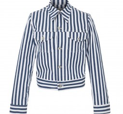 Kaila Striped Denim Jacket by Eve Denim