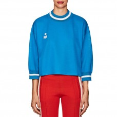isabel marant etoile dayton logo crop sweatshirt