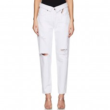 jean atelier distressed relaxed straight jeans