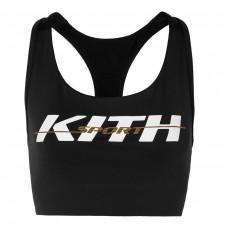 kith brie printed stretch jersey sports bra