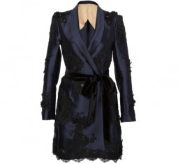 Tailored Silk Mini Dress by Marchesa