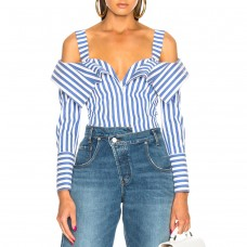 monse flap front stripe top