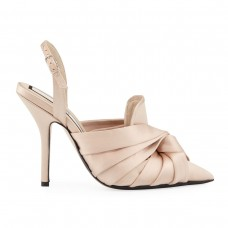 no. 21 knotted satin slingback sandal