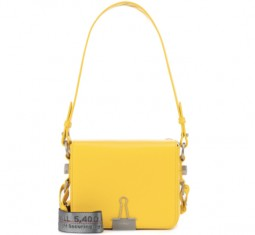 Binder Clip Leather Shoulder Bag by Off-White
