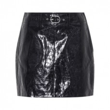 rag and bone toni belted leather miniskirt