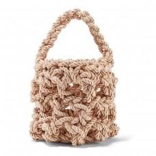 rejina pyo sylvia woven satin shoulder bag