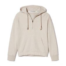 vince half-zip cotton hoodie