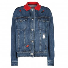 vivetta caroli applique denim jacket