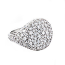david yurman pave pinky ring with diamonds in 18k white gold