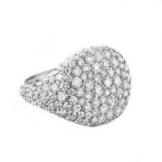 david yurman pave pinky ring with diamonds in 18k white gold