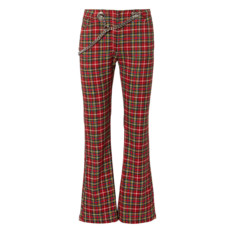 miaou morgan plaid flared pants