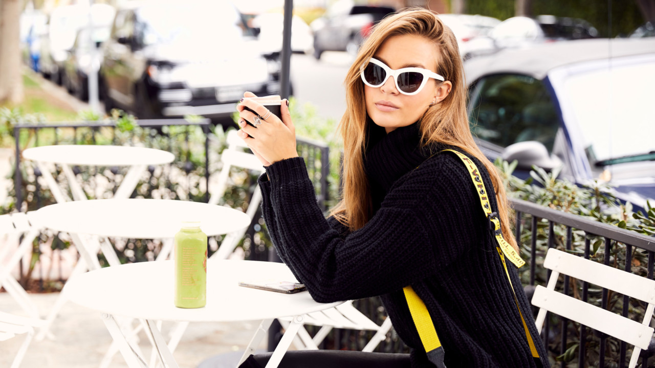 Josephine Skriver's Best Kept Beauty Secret Is the First Thing She Does in the Morning