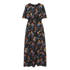 adam lippes smocked hammered silk maxi dress