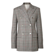 calvin klein 205w39nyc double breasted prince of wales checked wool blazer