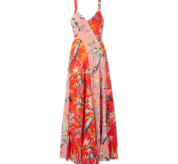 Paneled Floral-Print Silk Crepe de Chine Maxi Dress by Diane von Furstenberg