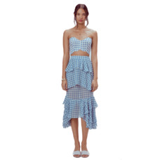 for love and lemons dorothy ruffled midi skirt