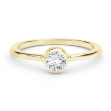the forevermark tribute collection classic bezel stackable ring