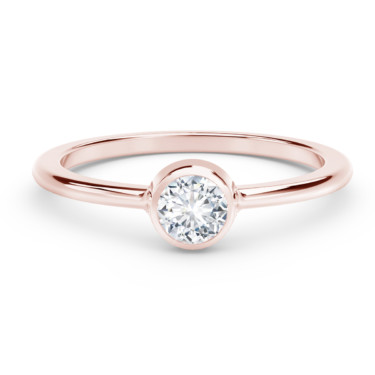 forevermark tribute collection classic bezel stackable ring