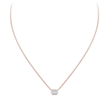 the forevermark tribute collection emerald diamond necklace