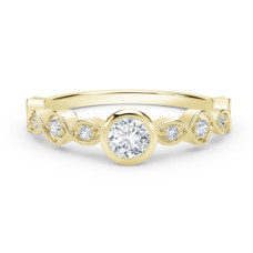 forevermark tribute collection stackable bezel set diamond ring