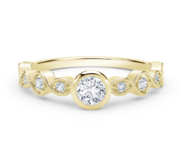 Stackable Bezel Set Diamond Ring by Forevermark