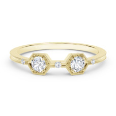 the forevermark tribute collection two stone diamond ring