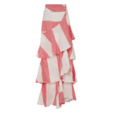 johanna ortiz tabasco linen striped skirt