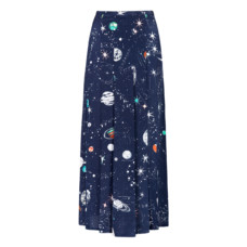 rixo london georgia cosmic constellation midi skirt with slits