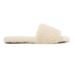 Teddy Bear Shearling Slides by The Row