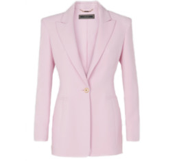 Shoulder Pad Silk Blazer by Versace