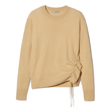 vince side cinch cashmere crew