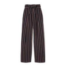 vince belted stripe wide leg pants