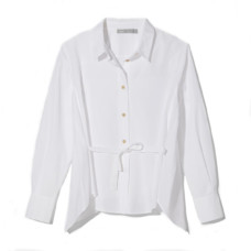 vince side tie long sleeve shirt