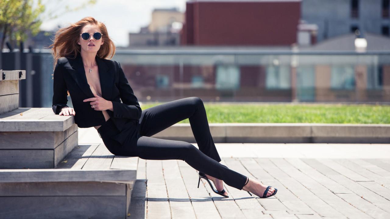 A Victoria's Secret Model Taught Us How to Style a Saint Laurent Suit