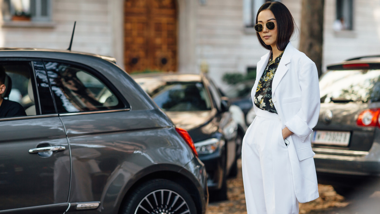 shop suit and sneaker outfit combos