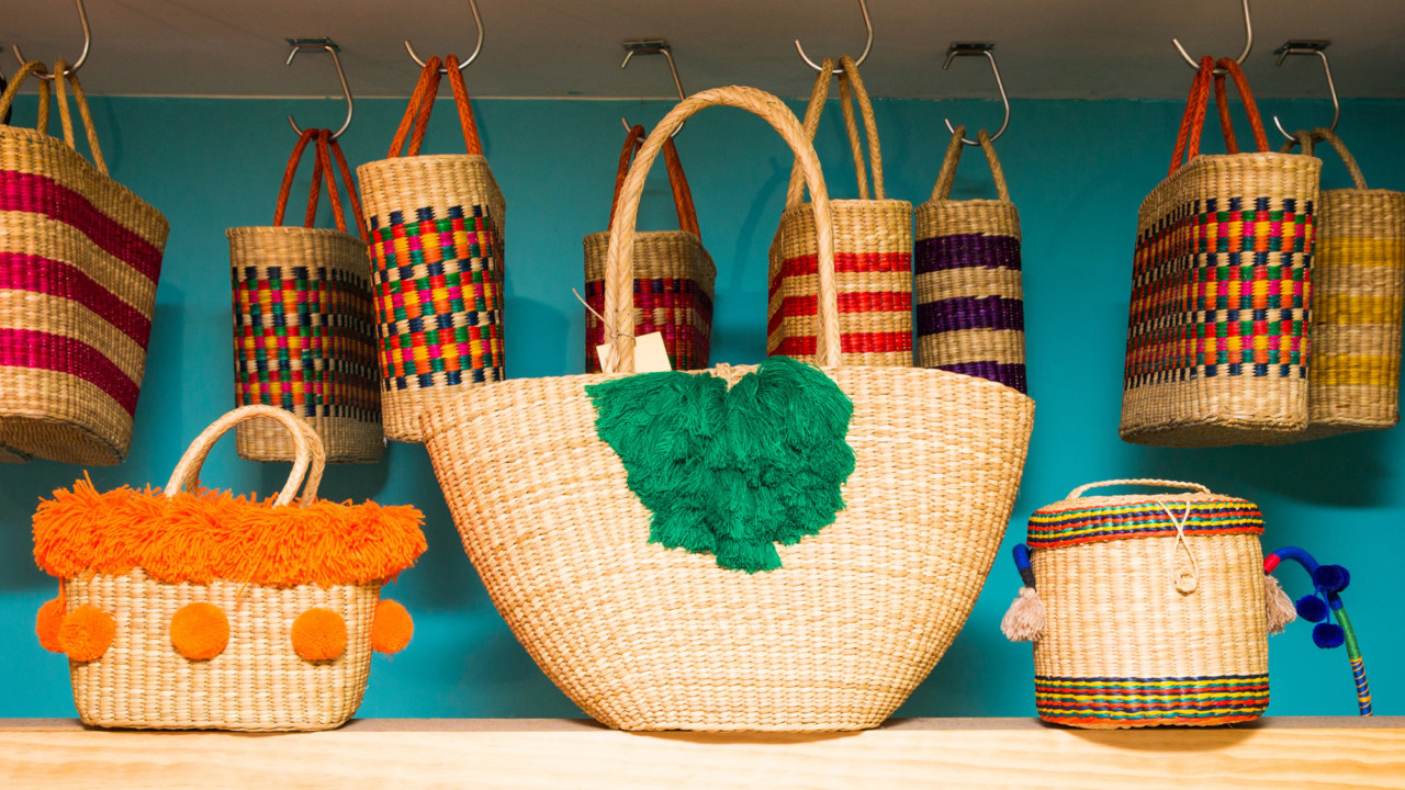 shop summer straw bag trend