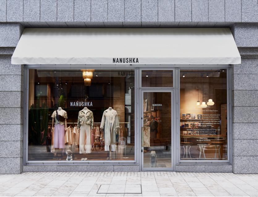 inside nanushka flagship store