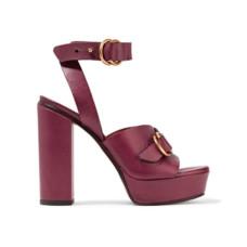 chloe leather platform sandals